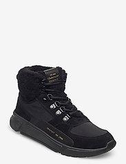 GANT - Cocoville Mid lace boot - flade ankelstøvler - black - 0