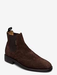 GANT - Brockwill Chelsea - chelsea boots - dark brown - 0