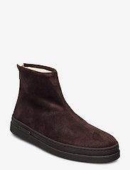 GANT - Cloyd Mid Zip boot - winter boots - dark brown - 0