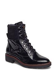 Emilia Mid lace boot - BLACK