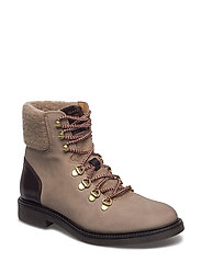 Ashley Mid lace boot - TAUPE