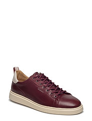 Beacon Low lace shoes - WINE RED