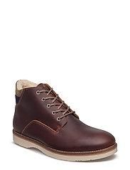 Huck Mid lace boot - COGNAC