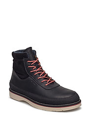 Huck Mid lace boot - BLACK