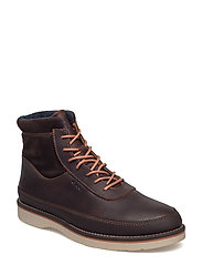 Huck Mid lace boot - DARK BROWN