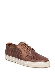 Star Low lace shoes - COGNAC