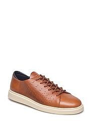 Beacon Low lace shoes - COGNAC