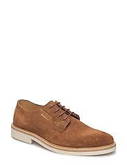 Parker Low lace shoes - COGNAC