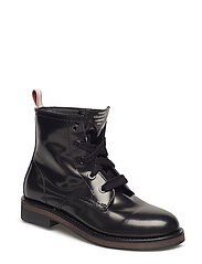 Malin  Mid lace boot - BLACK