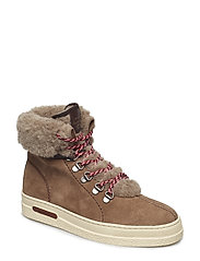 Maria Mid lace boot - MUD BROWN