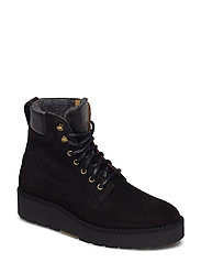 Casey Mid lace boot - BLACK