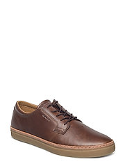 Bari Low lace shoes - COGNAC