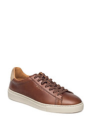 Major Low lace shoes - COGNAC