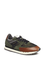 David Sneaker - GREEN CHECK MULTI