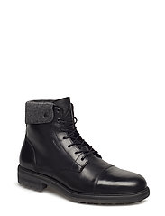Nobel Mid lace boot - BLACK