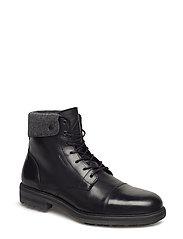 Nobel Mid lace boot - BLACK