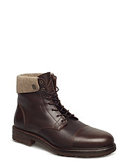 Nobel Mid lace boot - DARK BROWN
