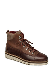 Don  Mid lace boot - COGNAC