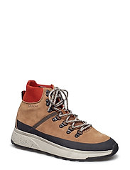 Tomas Mid lace boot - MUD BROWN