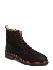 Martin  Mid lace boot - DARK BROWN