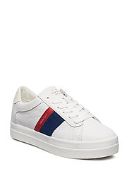 Aurora Low lace shoes - BR.WHT/IND.BLUE/RED