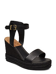 San Diego Wedge Sandal - BLACK