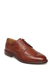 Ricardo Low lace shoes - COGNAC