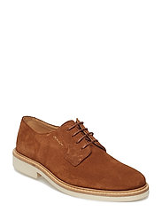 Plano Low lace shoes - COGNAC