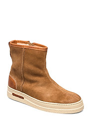 Maria Mid Zip boot - WARM KHAKI