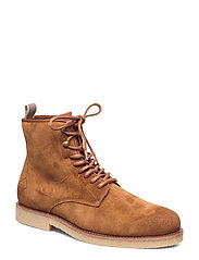 Barkley Mid lace boot - COGNAC