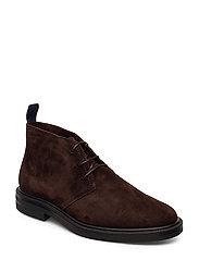Fargo Mid lace boot - DARK BROWN