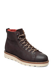 Don  Mid lace boot - DARK BROWN