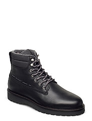 Roden  Mid lace boot - BLACK
