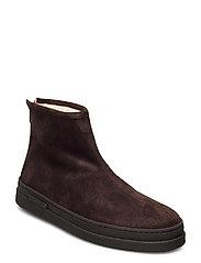 Cloyd Mid Zip boot - DARK BROWN
