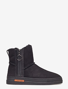 Maria Mid Boot - flat ankle boots - black