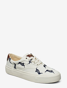 Long Beach Low laceshoes - OFF WHITE/FLAG