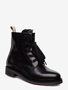 Malin  Mid lace boot - BLACK