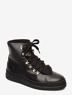 Maria Mid lace boot - BLACK
