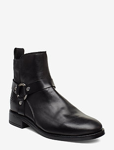 Fay  Mid Zip boot - niski obcas - black