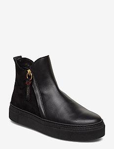 Marie Mid Zip boot - BLACK