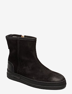 Maria Mid Zip boot - BLACK