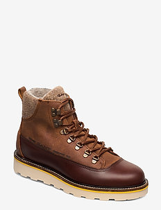 Don  Mid lace boot - SIENNA BROWN