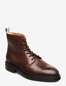 Martin  Mid lace boot - COGNAC