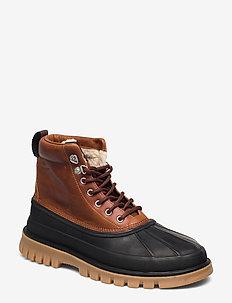 Colorado Mid lace boot - BLACK/COGNAC