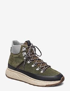 Tomas Mid lace boot - MILITARY GREEN