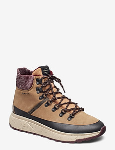 Tomas Mid lace boot - WARM KHAKI