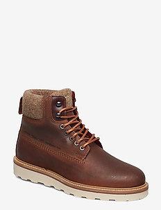 Don  Mid lace boot - sznurowane - cognac