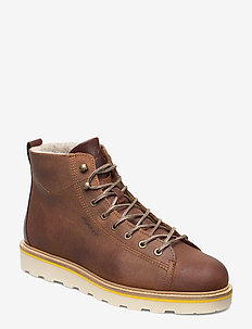 Don  Mid lace boot - COGNAC