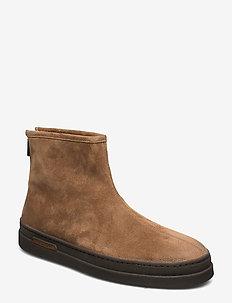Creek Mid Zip boot - winter boots - mud brown