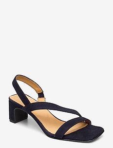 Alabasta Sling sandale - højhælede sandaler - marine